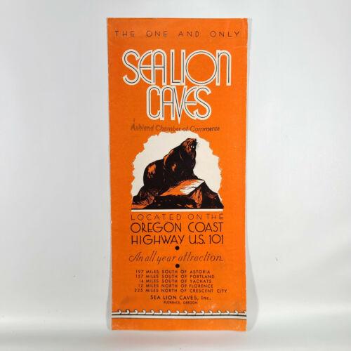 1930s Sea Lion Caves Vintage Travel Brochure Oregon Coast US 101 Florence OR