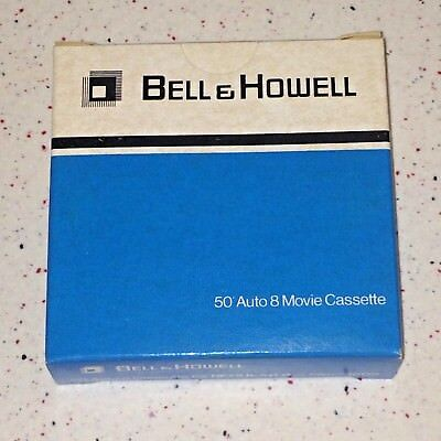 Lot of 4 Vintage Bell & Howell 50 Auto 8mm Movie Cassettes New Old Stock