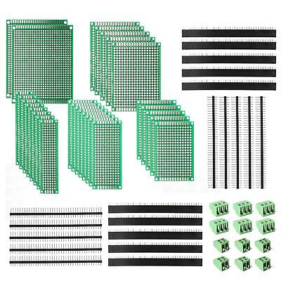 Deyue 60 Pcs Pcb Perforated Printed Circuits Boards Kit 28 Double-sided