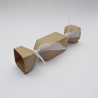 Brown Kraft Cracker Wedding Favour Boxes -  Choose QTY - Christmas, Birthdays ()
