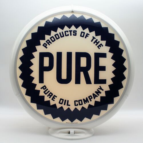 """PURE OIL 13.5"""" Gas Pump Globe - SHIPS FULLY ASSEMBLED! READY FOR YOUR PUMP!!"""