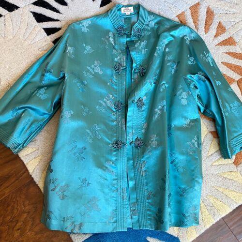 50s Silk Dynasty Hong Kong Brocade Jacket 1950