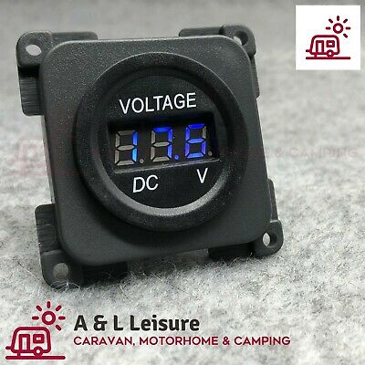 CBE C-Line Battery Volt Meter, Volt Gauge BLUE LED Caravan Motorhome Camper AL43