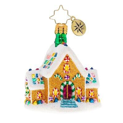 [NEW Christopher Radko GINGERBREAD DREAM HOME Christmas Ornament 1020136 </Title]