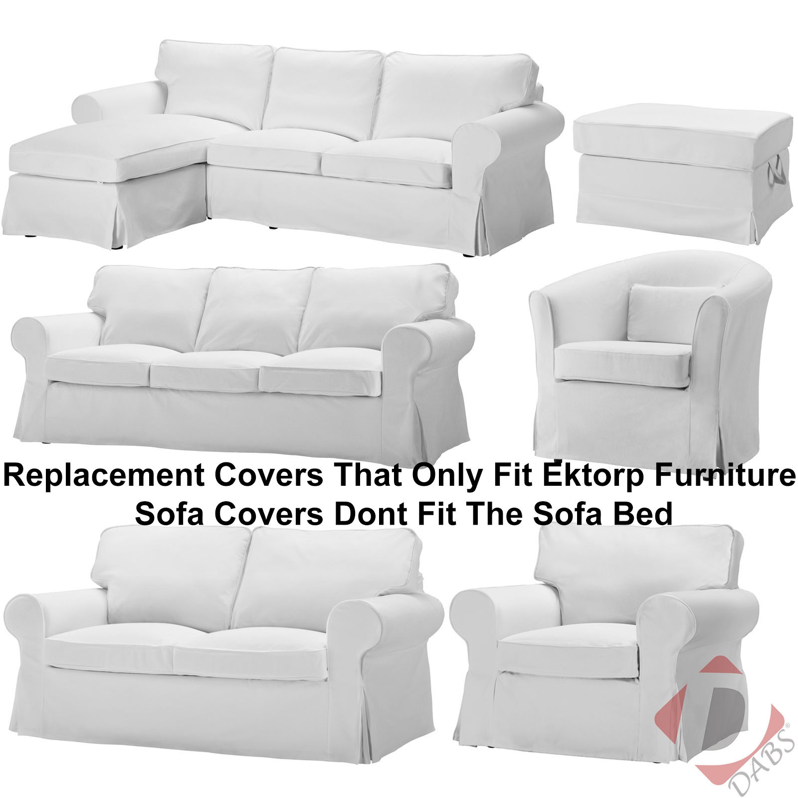 Ikea ektorp replacement blekinge white sofa footstool for Replacement couch cushions ikea