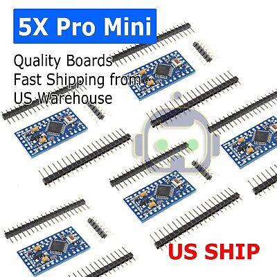 5x Arduino Pro Mini Board Free With Headers Atmega328p 16mhz 5v Atmega328