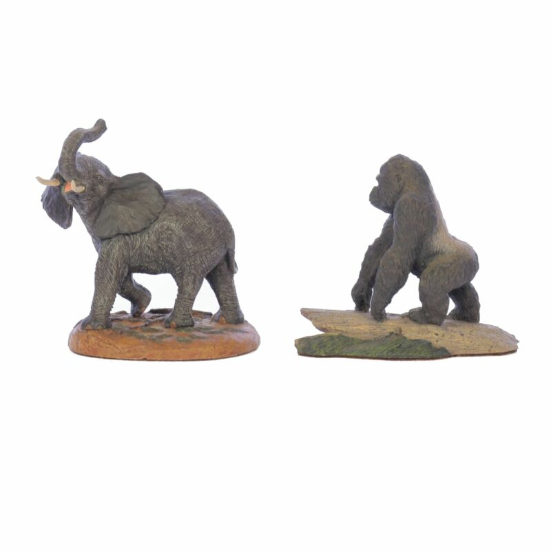 The Franklin Mint Vintage Figurine Bundle Elephant and Gorilla