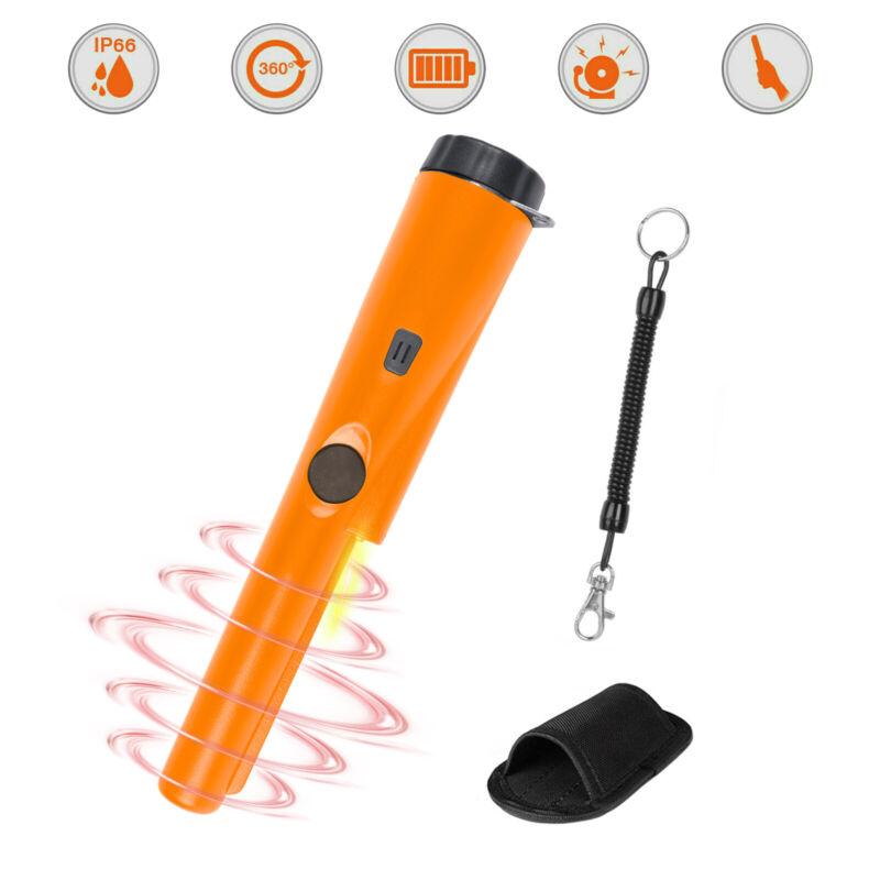 Metal Detector Handheld Pin Pointer w/Belt Holster Precise Scan Water Resistant