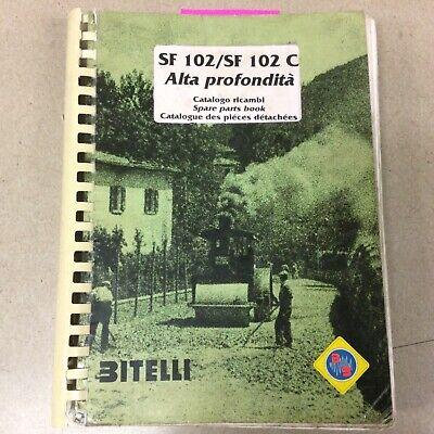 Bitelli Sf 102 102c Parts Manual Book Catalog List Milling Machine Cold Planer