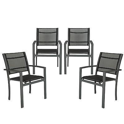4er Set Gartenstuhl Balkonstühle Gartensessel Terrasse Metall Stuhl