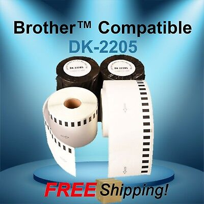 Labels123 Brand-fits Brother Dk 2205 P-touch Ql700 Ql500 Continuous Label Rolls
