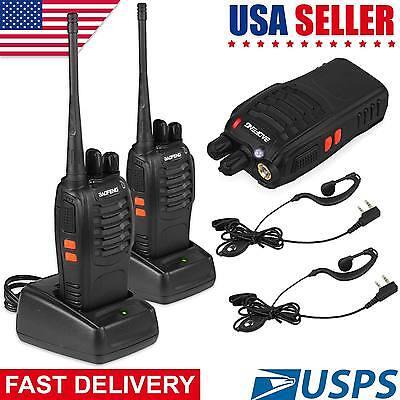 2Pcs Baofeng BF-888S UHF 5W Handheld CTCSS HT Two way Ham Radio Walkie Talkie