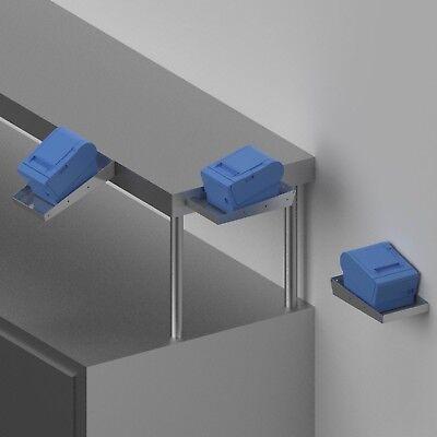 Point Of Sale Pos Kitchen Stainless Steel Printer Shelf Edgewall Mount Pn 50313
