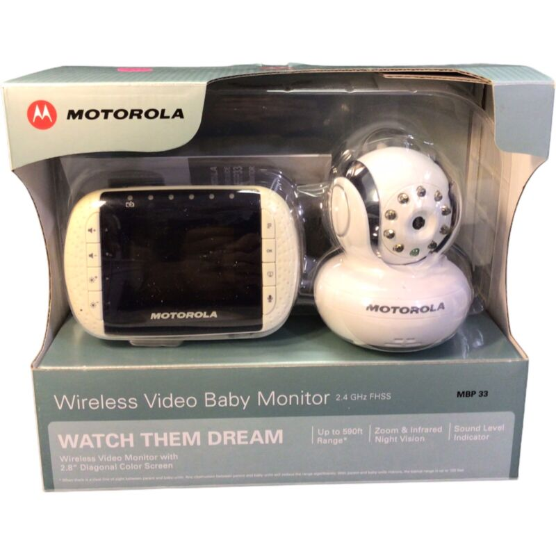 Motorola Video Baby Monitor MBP33 FULLY TESTED WORKS