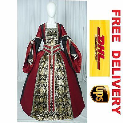 MEDIEVAL RENAISSANCE TUDOR WEDDING HANDFASTING LARP GOWN DRESS COSTUME (19G)