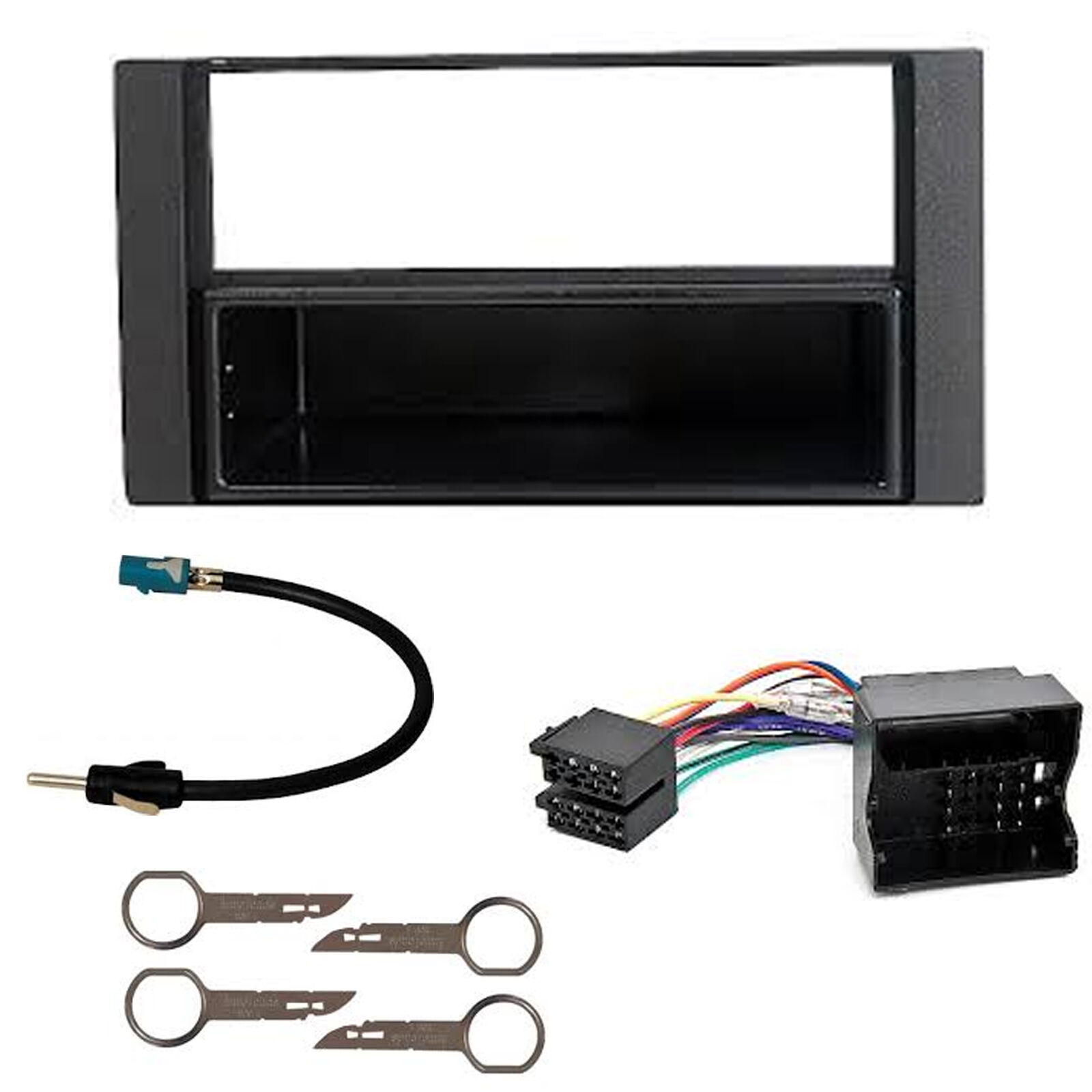 FORD FIESTA 2001 TO 2008 BLACK SINGLE or DOUBLE DIN FITTING KIT ADAPTOR FASCIA