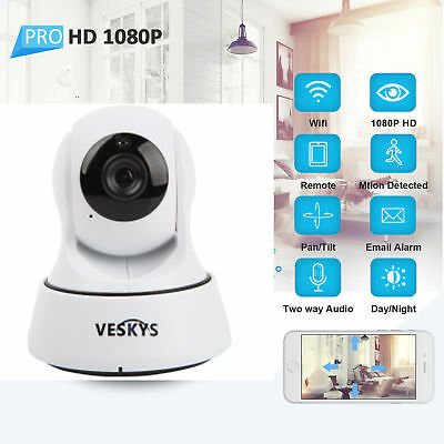 Wireless 1080P HD Pan/Tilt Network Baby Monitor Camera WiFi IP Webcam IR-CUT