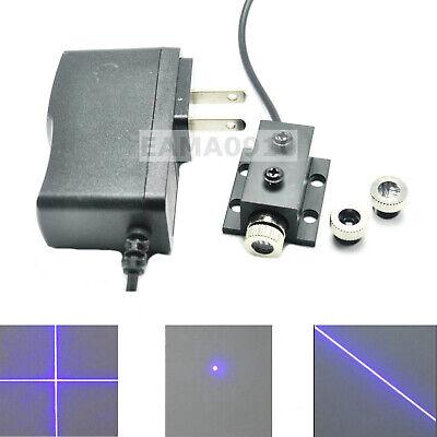 Dot Line Cross 50mw 405nm Violetblue Laser Module W12mm Hestsink Ac Adapter