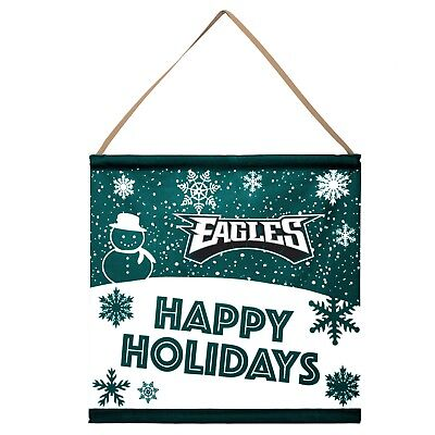 Philadelphia Eagles Happy Holidays Banner Sign Christmas Wall Door Decoration ()
