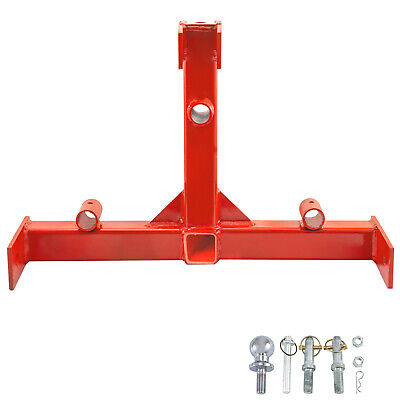 3 Point 2 Receiver Trailer Hitch Category 1 Category1 Steel Standard 2
