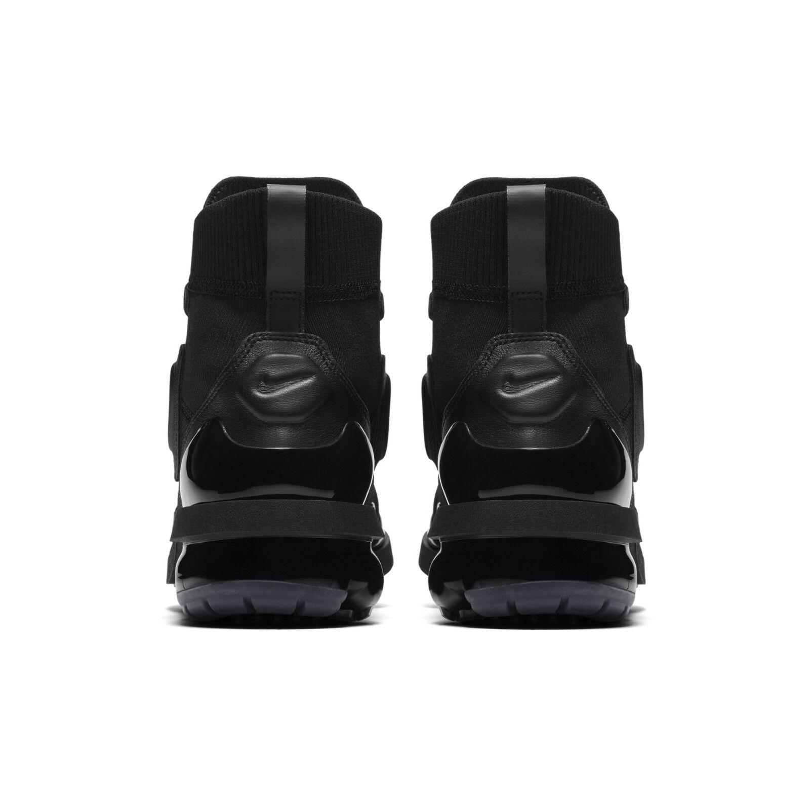 897c83e10b7 Nike Womens Wmns Vapormax Light II 2 Hi Triple Black Fashion Shoes AO4537- 001