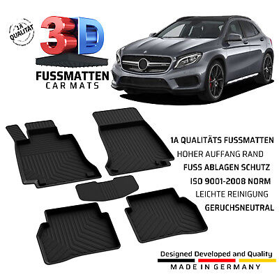 Mercedes GLA (X156) Gummifussmatten Bj ab 2013 Komplett Set Allwetter Fußmatten