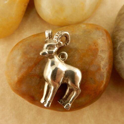 Vintage .925 Sterling silver Goat charm, pendant Chinese Zodiac