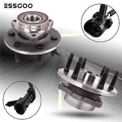 4x4 6lug 2Front Wheel Bearing & Hub Assembly for GMC Sierra Chevy Silverado 1500