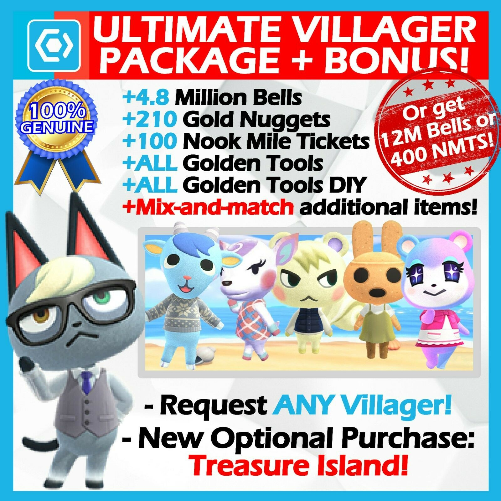 Animal Crossing New Horizons ? Ultimate Move-in Package ? FAST