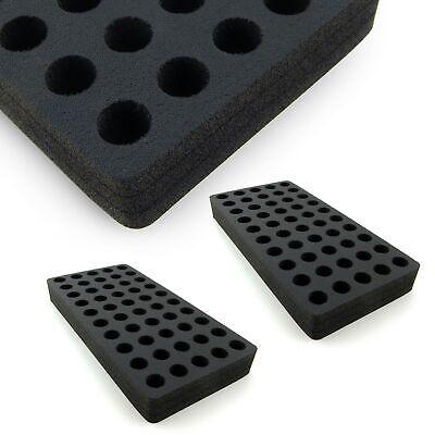 2 Vial 4ml Organizer Storage Rack Foam Stand 15mm Diameter Holders 50