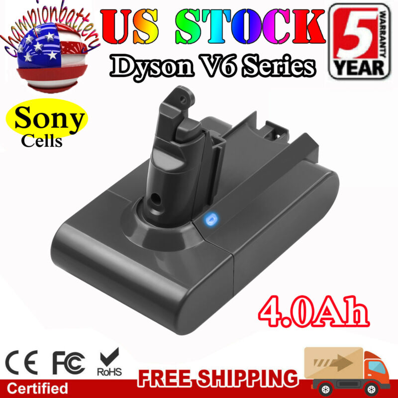 4000mAh For Dyson Replacement Battery V6 Animal DC58 DC59 DC61 DC62 SV04 SV03