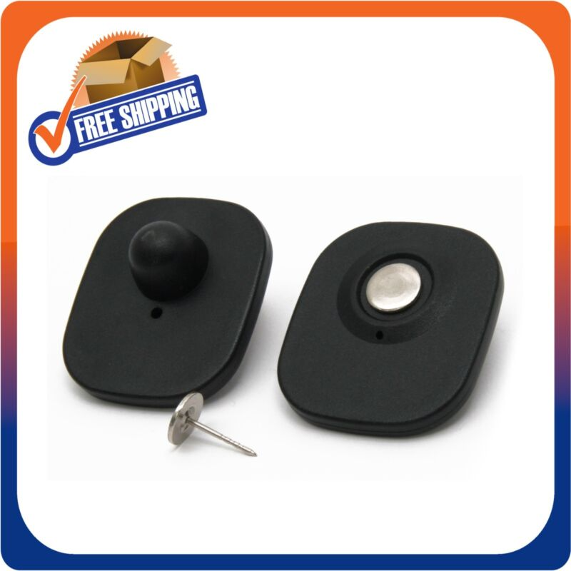 1000 CHECKPOINT SECURITY COMPATIBLE RF 8.2MHZ MINI TAG BLACK W/PIN EAS ANTITHEFT