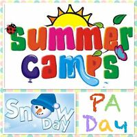 P.A Day, Snow Day Camps