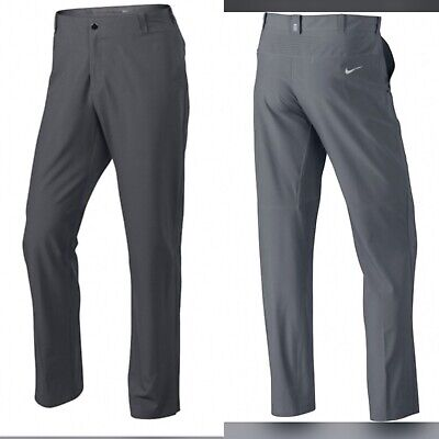 NIKE Golf Tiger Woods TW Adaptive Fit Pan 585784 Stretch Gray 36 x 34 Pants