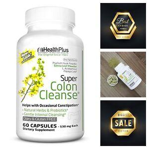 Health Plus Super Colon 60-Capsules Cleanse Detox Cleanser