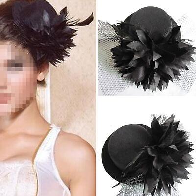 Damen Steampunk Mini Top Hut Mad Hatter Kostüm Hochzeitsfeier