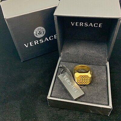 Authentic Versace Gold Medusa Fender Ring Runway Sz. 23 DG58043