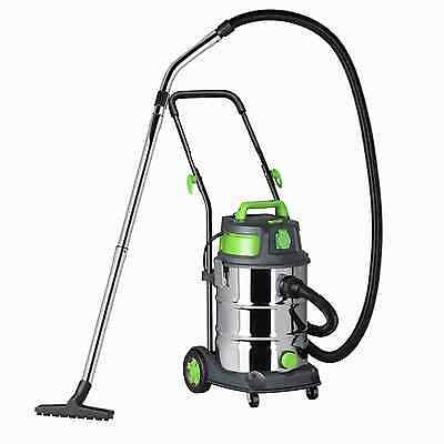 Vacmaster Quiet 30 Heavy Duty Wet and Dry Vacuum Cleaner, Stainless Steel