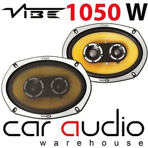 Vibe 1050 Watts Black Air BA69 6x9 Inch 3 Way Car Rear Parcel Shelf Speakers