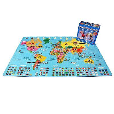 "IncStores - Foam World Map Playmat (60 pieces, 4' x 6'6"")"