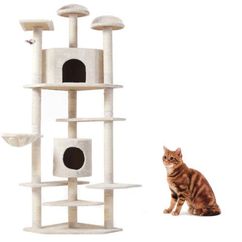 "(52/36/60/80)""Cat Tree Tower Furniture Scratching Post Pet Cat Kitten Play House"