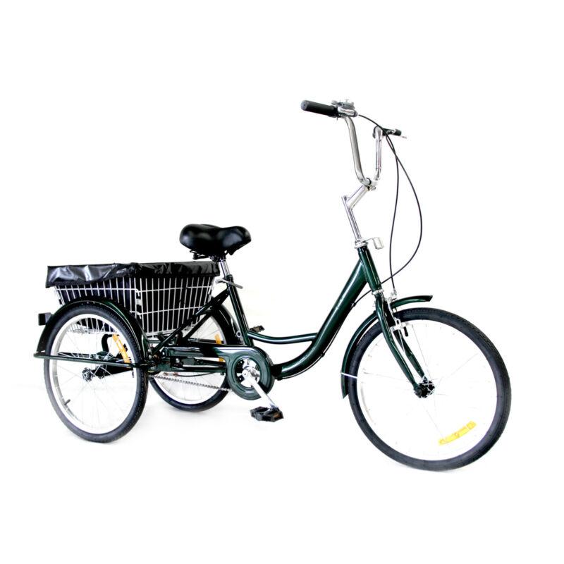 2420 Adult Tricycle 3Wheel Trike Cruiser Bicycle wBasket for Shopping