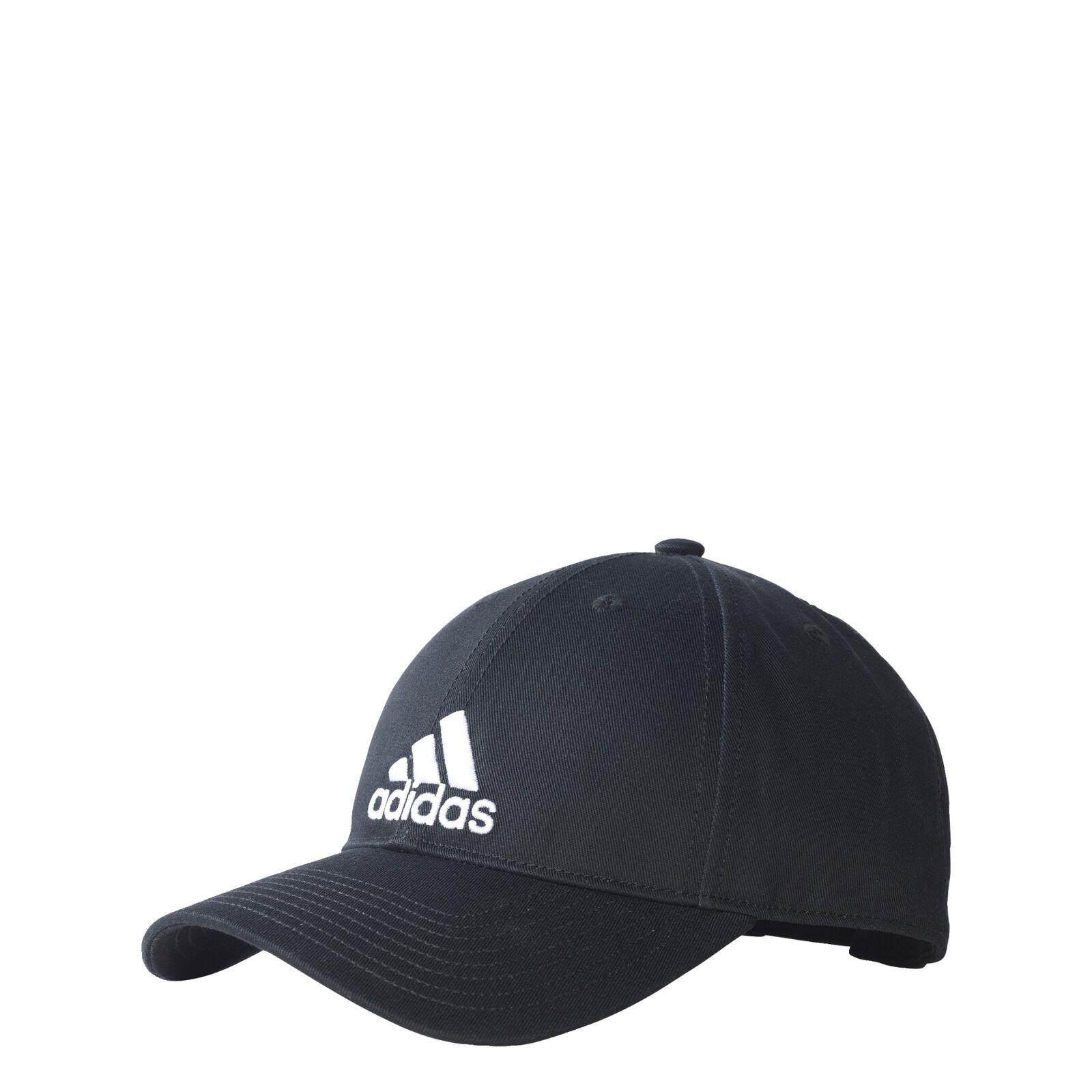 adidas Basecap 6P CAP COTTON Mütze Baseball Kappe Hut Laufmütze schwarz