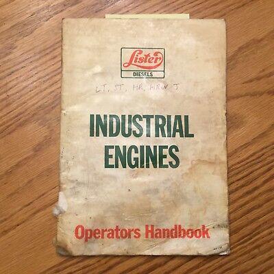 Lister Petter Lt St Hr Hrw J Jw Operation Maintenance Manual Diesel Engine Guide