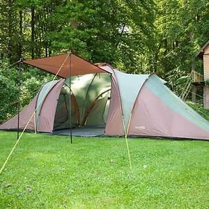 skandika Daytona XXL 6 Person/Man Family Dome Tent 3 Bedrooms Mosquito Mesh New
