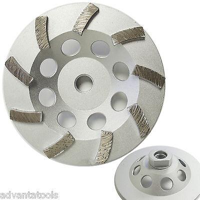 5 Spiral Turbo Diamond Cup Wheel For Concrete Grinding 9 Segs 58-11 Arbor
