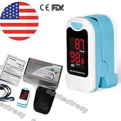 Led Finger Pulse Oximeterblood Oxygen Monitorsky Bluespo2pr Monitorfdausa