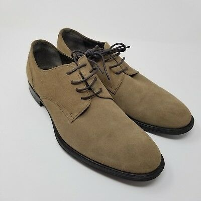 Franklin and Freeman men's oxford shoes brown size 8 Wright leather buck - Buck And Buck Shoes