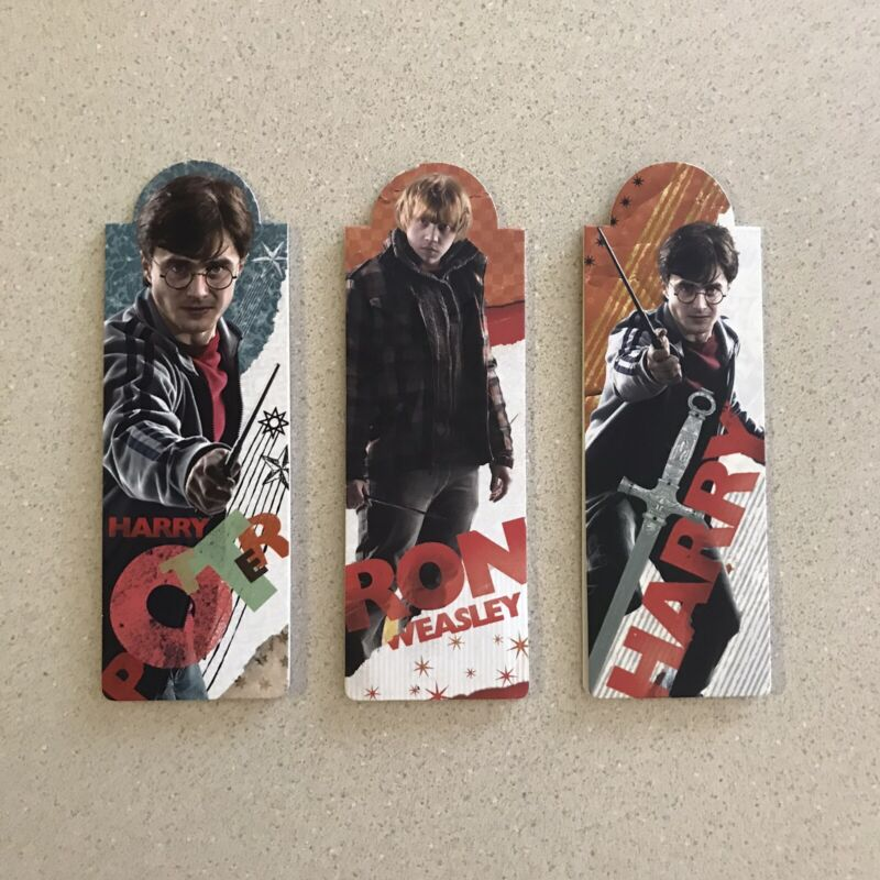 Harry Potter Ron Weasley Magnetic Bookmarks -Gryffindor Sword Reading (lot of 3)