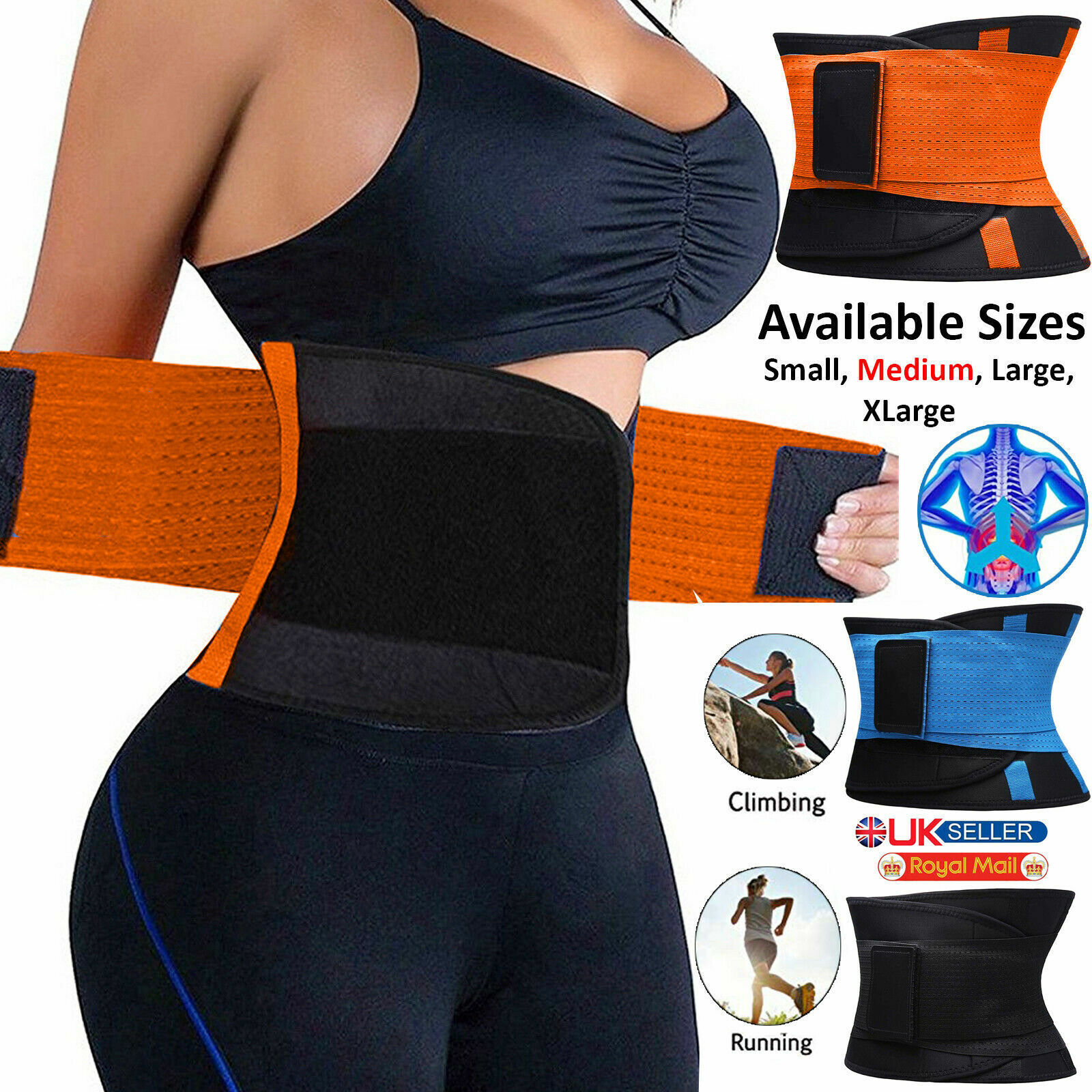 Waist Trainer Cincher Trimmer Sweat Belt Men Women Shapewear Gym Body Shaper LOT